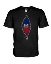 Zipper Haiti V-Neck T-Shirt thumbnail