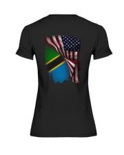 Flag-America-Tanzania Premium Fit Ladies Tee thumbnail