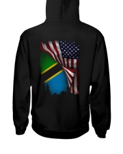 Flag-America-Tanzania Hooded Sweatshirt back