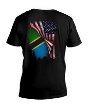 Flag-America-Tanzania V-Neck T-Shirt thumbnail