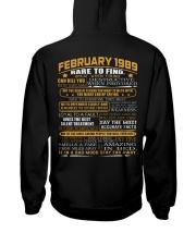 YEAR GREAT 89-2 Hooded Sweatshirt back