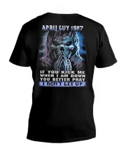 I DONT GET UP 87-4 V-Neck T-Shirt thumbnail