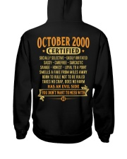 MESS WITH YEAR 00-10 Hooded Sweatshirt back