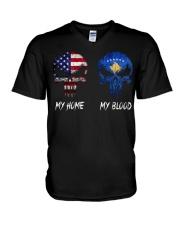 SKULL Kosovo V-Neck T-Shirt thumbnail