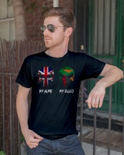 Home United Kingdom - Blood Zambia Classic T-Shirt lifestyle-mens-crewneck-front-2
