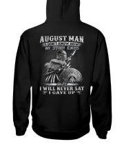 GAVE UP 8 Hooded Sweatshirt back