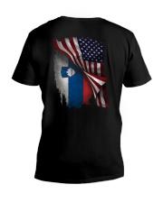 Flag-Slovenia V-Neck T-Shirt thumbnail