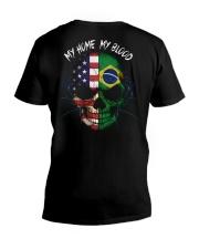 MY HOME - BLOOD Brazil V-Neck T-Shirt thumbnail