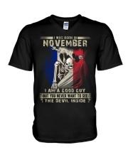 GOOD GUY FRENCH11 V-Neck T-Shirt thumbnail