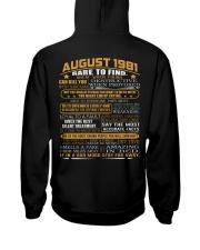 YEAR GREAT 81-8 Hooded Sweatshirt back