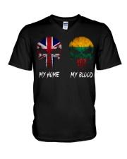 Home United Kingdom - Blood Lithuania V-Neck T-Shirt thumbnail