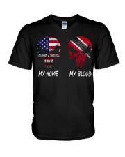 MY HOME SKULL Trinidad V-Neck T-Shirt thumbnail