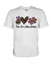 Autism Awareness V-Neck T-Shirt tile