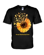 Accept Understand Love V-Neck T-Shirt thumbnail