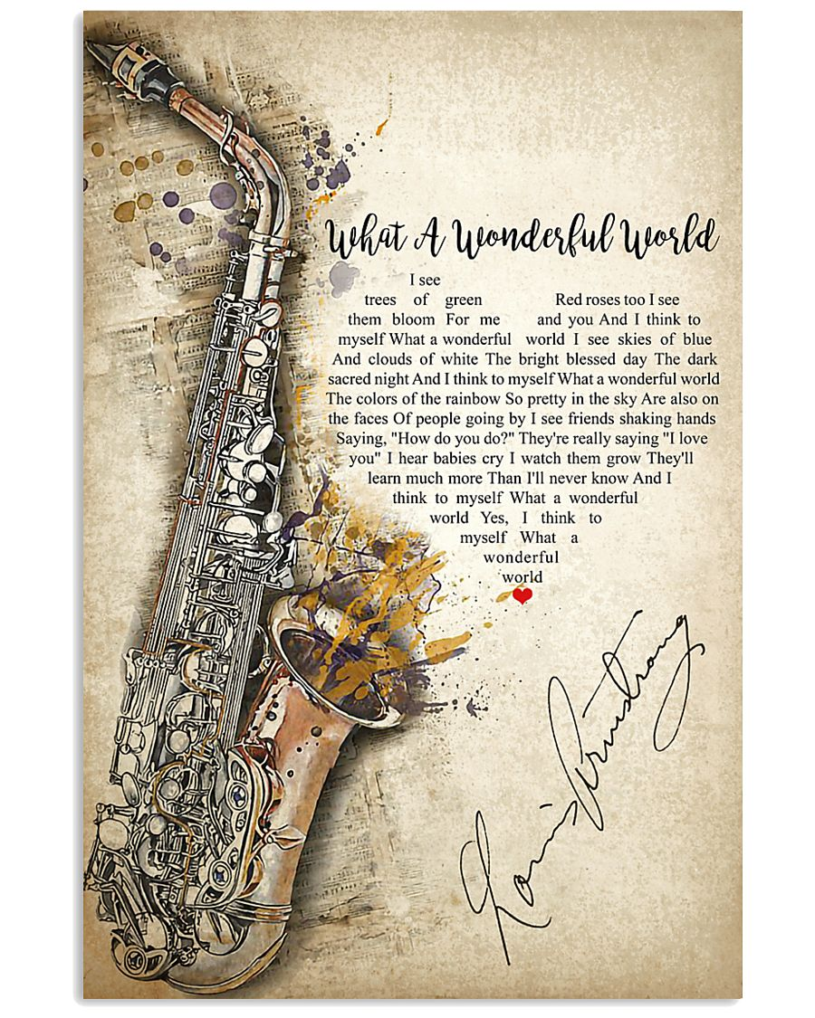 What A Wonderful World 24x36 Poster