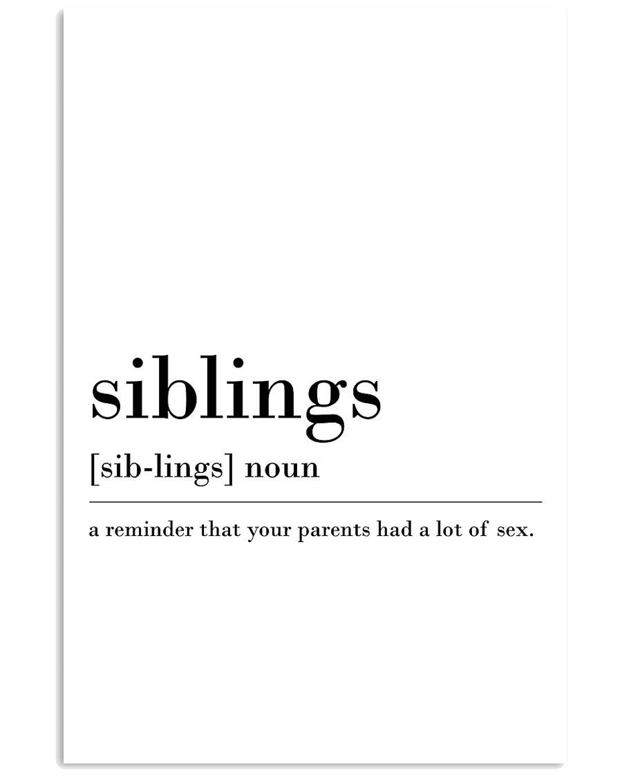 siblings 24x36 Poster