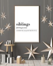 siblings 24x36 Poster lifestyle-holiday-poster-1
