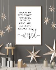 education is the most powerful weapon  24x36 Poster lifestyle-holiday-poster-1