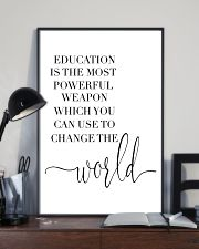 education is the most powerful weapon  24x36 Poster lifestyle-poster-2