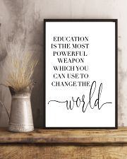 education is the most powerful weapon  24x36 Poster lifestyle-poster-3