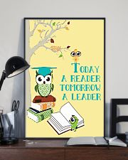 today a reader tomorrow a leader 24x36 Poster lifestyle-poster-2