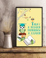 today a reader tomorrow a leader 24x36 Poster lifestyle-poster-3