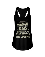 Pilot Dad Shirt Dad the man the myth the legend Ladies Flowy Tank thumbnail