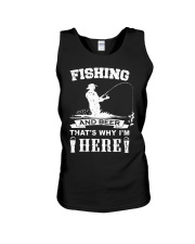 Fishing and beer that's why i'm here Unisex Tank thumbnail