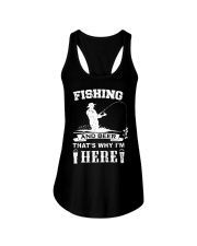 Fishing and beer that's why i'm here Ladies Flowy Tank thumbnail