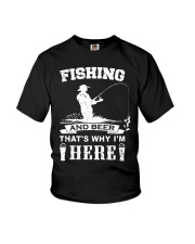 Fishing and beer that's why i'm here Youth T-Shirt thumbnail
