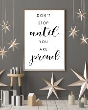 don't stop until you are proud 24x36 Poster lifestyle-holiday-poster-1