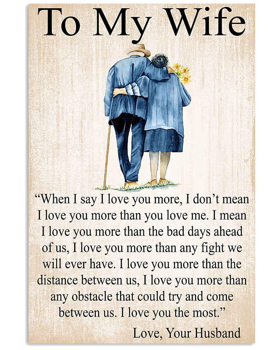 To my wife 24x36 Poster