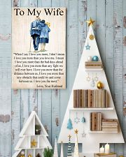To my wife 24x36 Poster lifestyle-holiday-poster-2