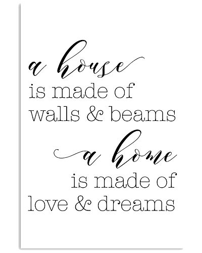 A house is made of walls and beams a home