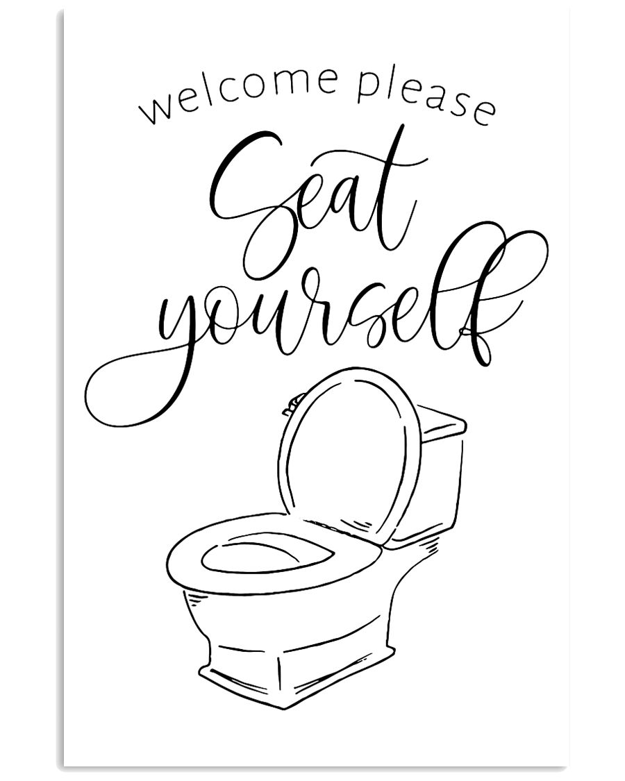 welcom please seat yourself 24x36 Poster