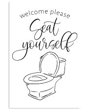 welcom please seat yourself 24x36 Poster front