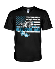 Reel cool dad V-Neck T-Shirt thumbnail