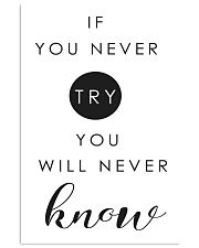 if you never try you will never know 2 24x36 Poster front