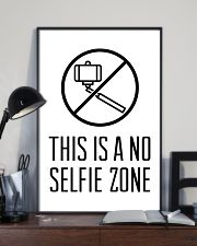 this is a no selfie zone 24x36 Poster lifestyle-poster-2