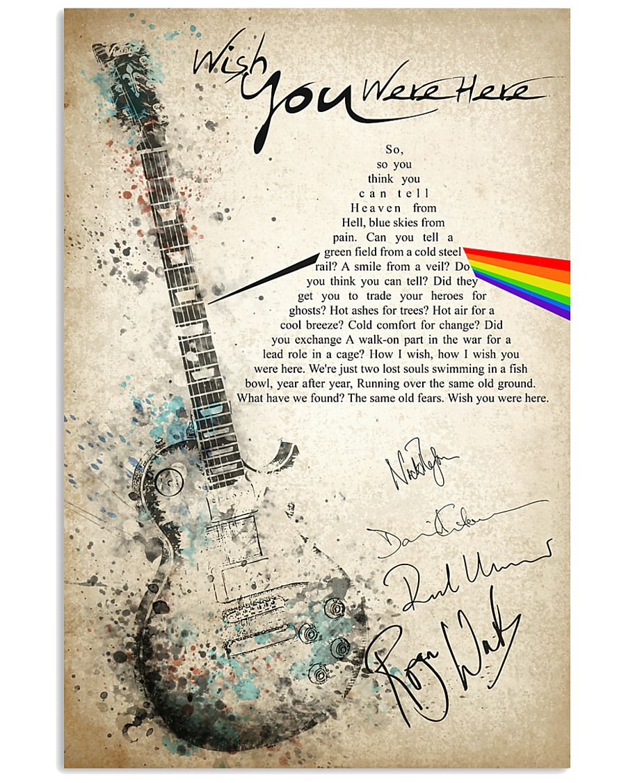 Wish You Were Here 24x36 Poster