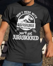 Don't mess with papasaurus Classic T-Shirt apparel-classic-tshirt-lifestyle-28