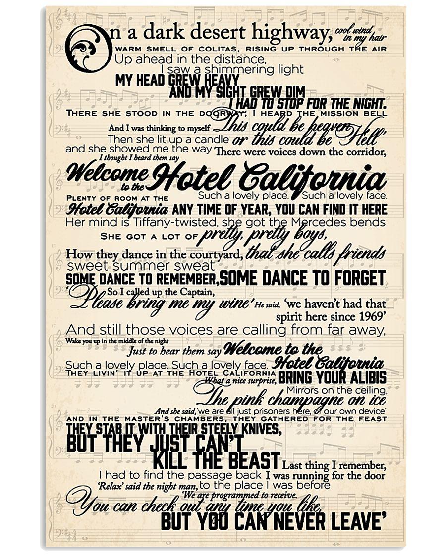 Hotel California 24x36 Poster