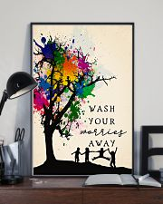 Wash your worries away 24x36 Poster lifestyle-poster-2