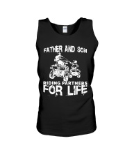 Father and son riding partners for life Unisex Tank thumbnail