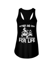 Father and son riding partners for life Ladies Flowy Tank thumbnail