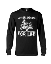 Father and son riding partners for life Long Sleeve Tee thumbnail