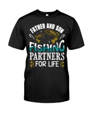 Father and son fishing Classic T-Shirt front