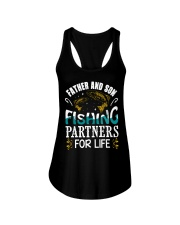 Father and son fishing Ladies Flowy Tank thumbnail