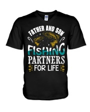 Father and son fishing V-Neck T-Shirt thumbnail