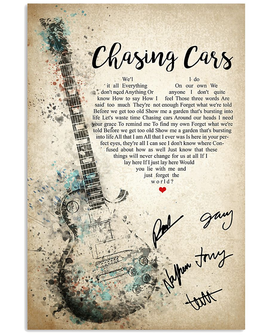 Chasing Cars 24x36 Poster